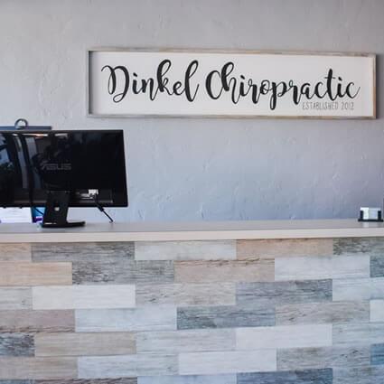 Dinkel Chiropractic front desk
