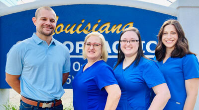 Photo of Dr. Dane Owens and the Louisiana Chiropractic Team
