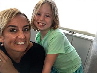 Dr. Katie Pinkus with her pediatric chiropractic patients