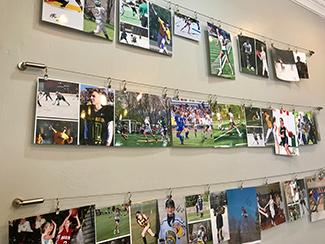 Children's photos on wall