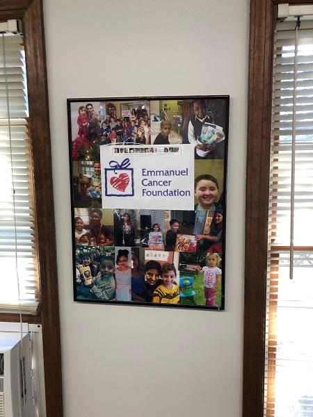 Emmanuel cancer foundation sign