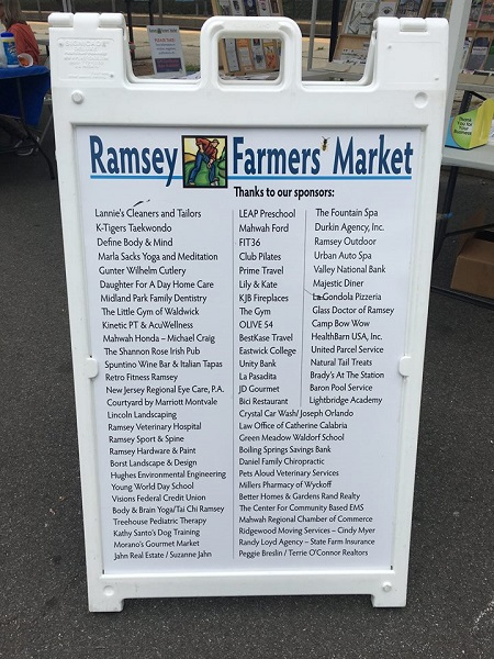 ramsey farmers market sponsorship list