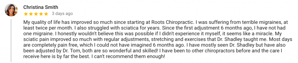chiropractic for migraines and sciatica review