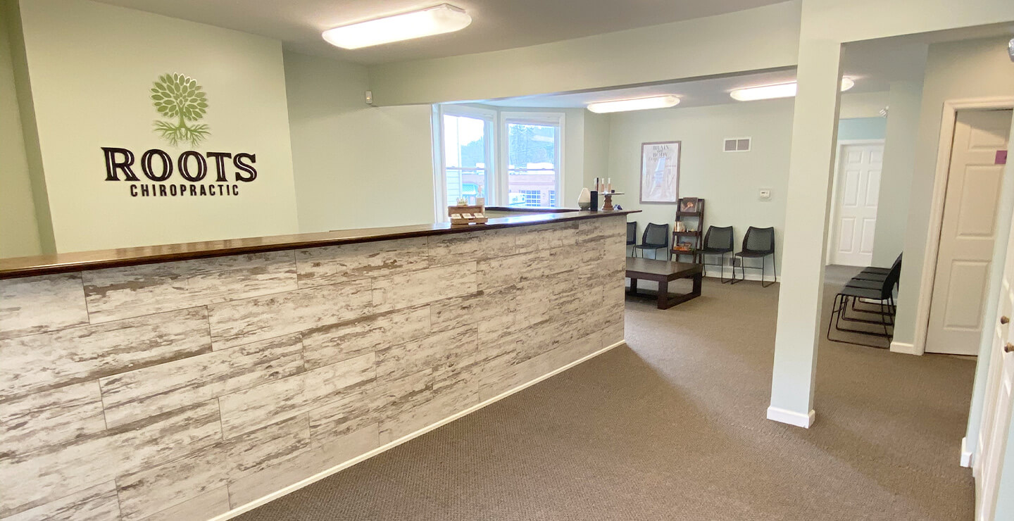 Roots Chiropractic reception area