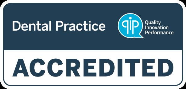 QIP dental practice accredited logo