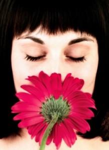 Female w Flower