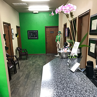 Front desk and waiting room