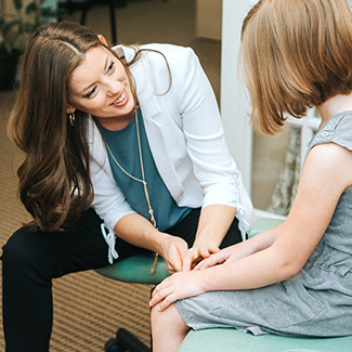 Dr. Michelle and a patient