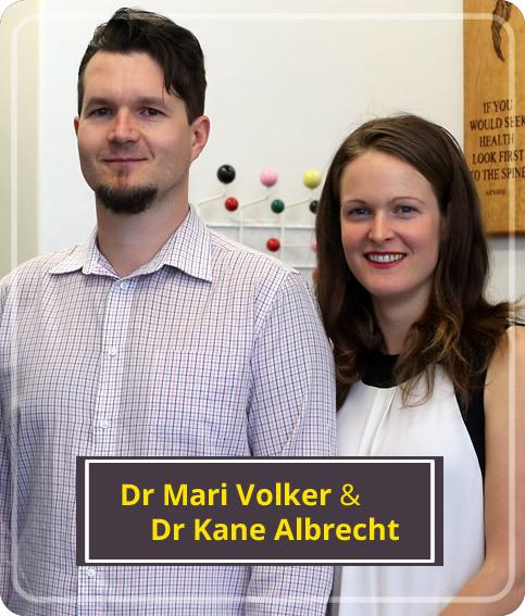 Dr Mari Volker and Dr Kane Albrecht