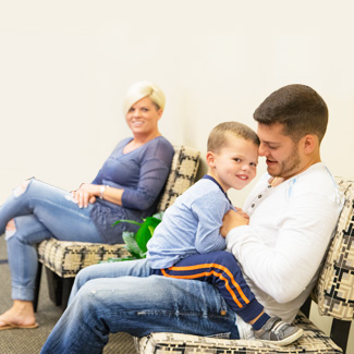 Family in waiting room