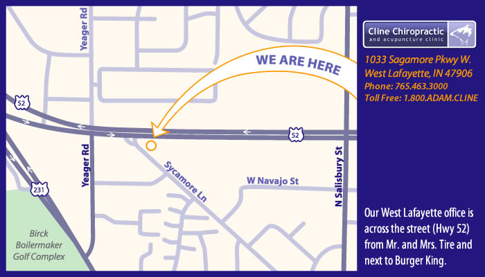 West Lafayette Chiropractor Location