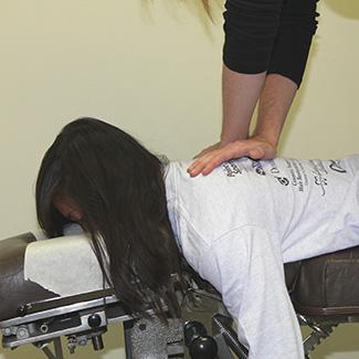 Female thoracic adjustment