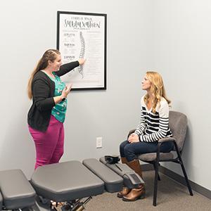 Dr. Alyssa consult with patient