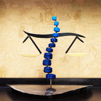 Balance beam from logo