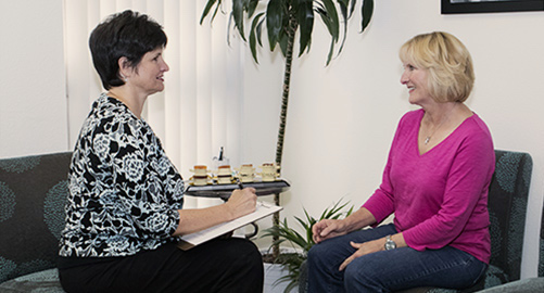 Dr. Sampair consulting with patient