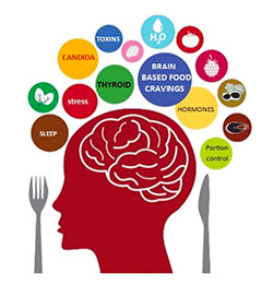 brain thinking about weight loss