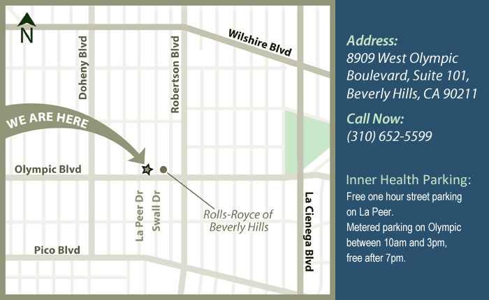 Beverly Hills chiropractic office map