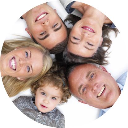 multigenerational smiling family