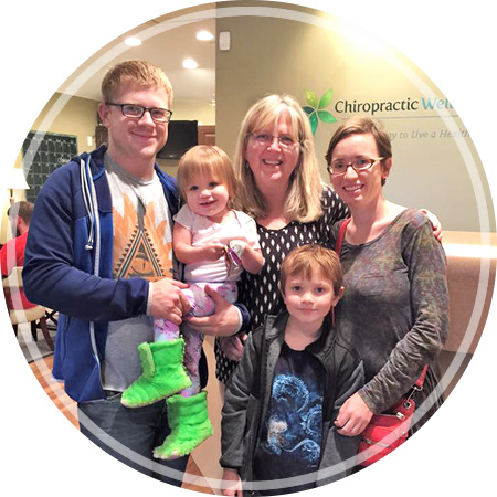 Dr. Shelly with chiropractic family