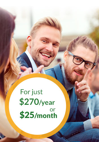 For just $270/year or $25/month