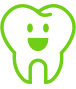 Smiling tooth icon
