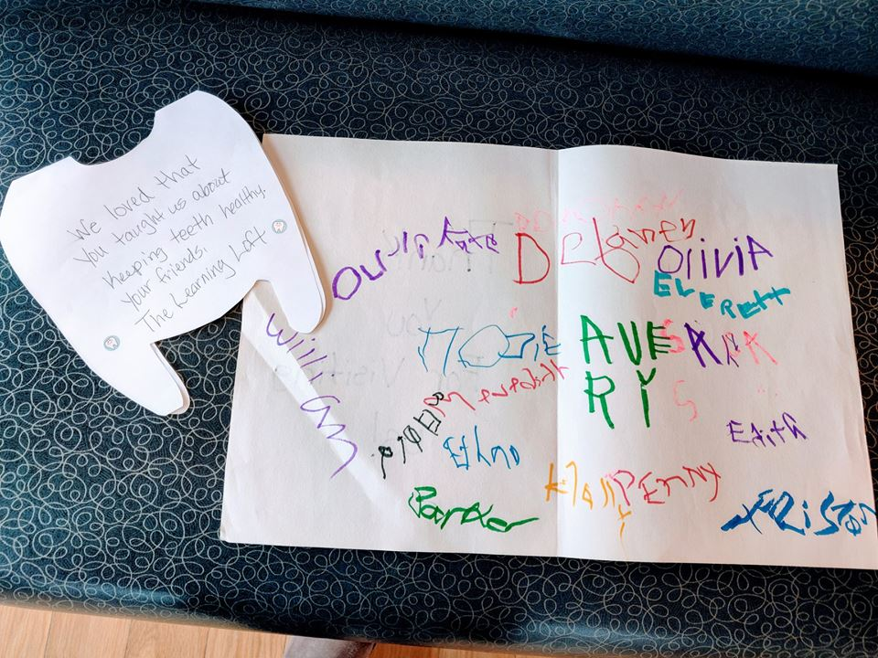 thank you card from students