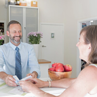 Sturart Morick consulting with client