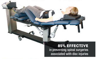 Woman on Decompression table