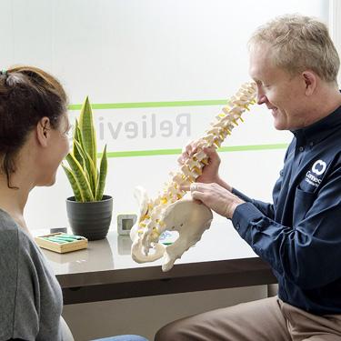 Andrew giving Chiropractic demonstration