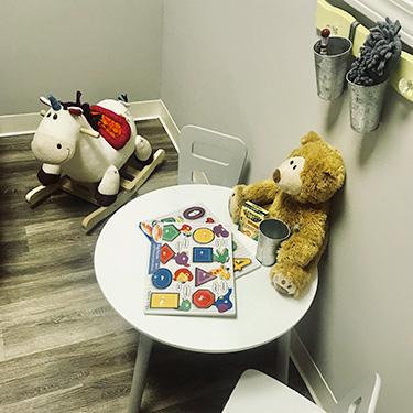 Kids play area at Fresh Start Chiropractic