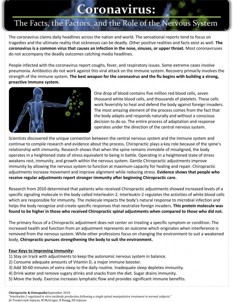 coronavirus newsletter
