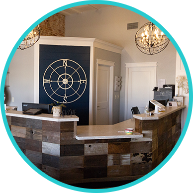 front desk at Compass Chiropractic & Wellness