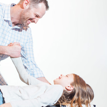 Young girl receiving a chiropractic adjustment