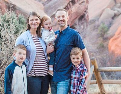 Photo of the Thompson family