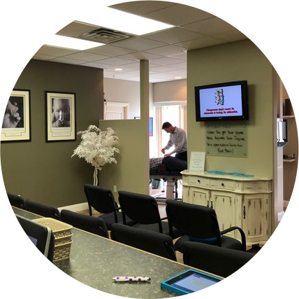 Waiting area at Hale Chiropractic