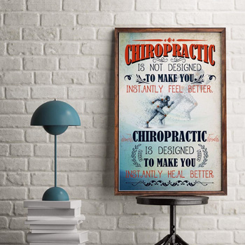 Chiropractic Sign in Office