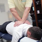 Dr Paul Klich adjusting