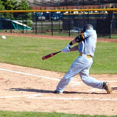 Caleb swinging bat