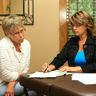 Dr. Kathy reviewing results with patient