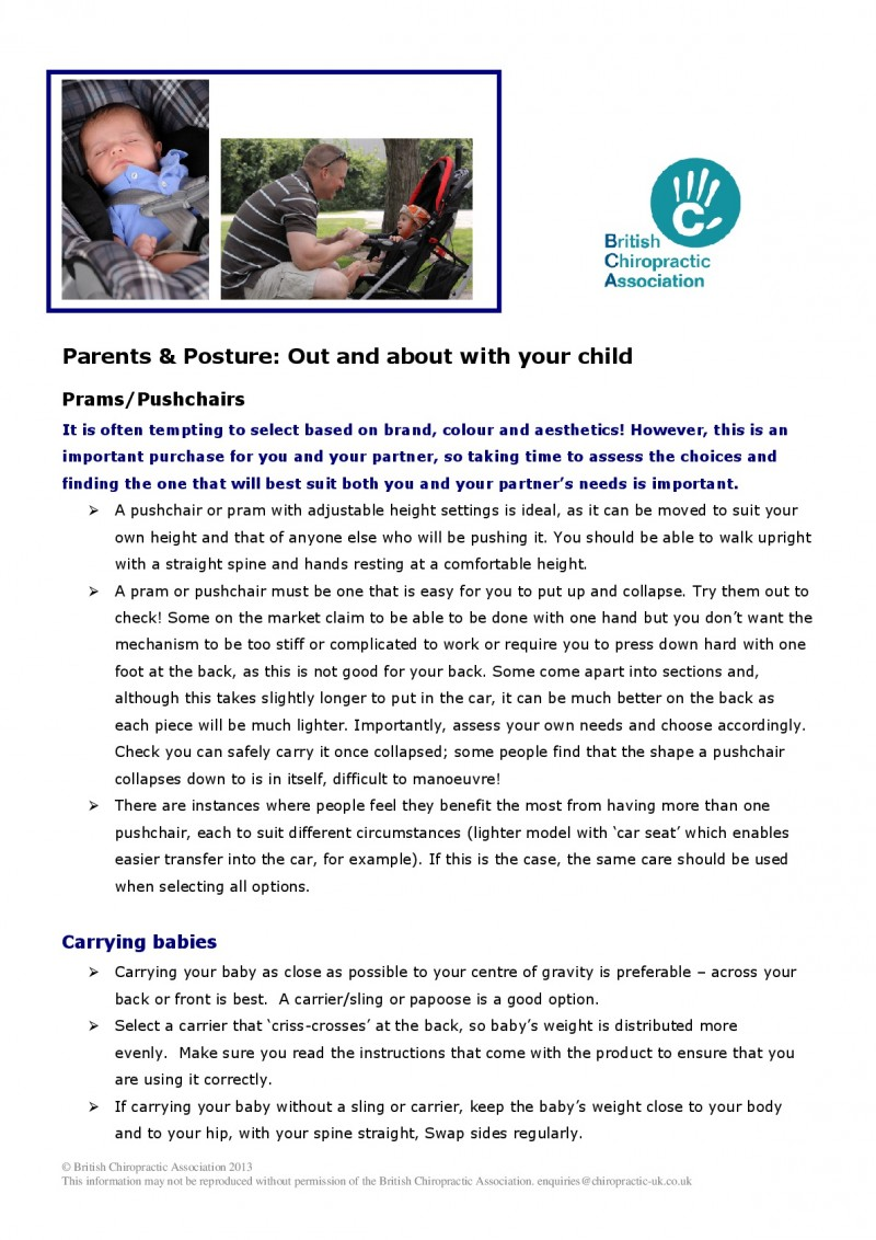 Mind Your posture: Parents and posture outdoors article Page 1