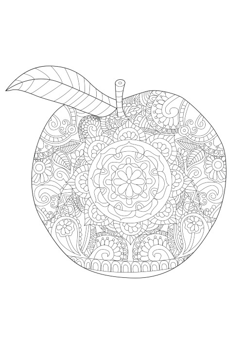 coloring-apple