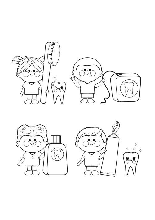 coloring dental kids