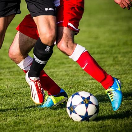 Football players feet