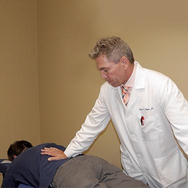 Dr. Pete adjusting low back