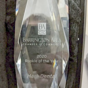 Trophy- Hart Dental Rookie of the Year Award 2020