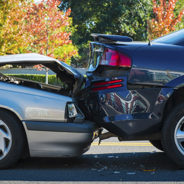 Two cars in accident