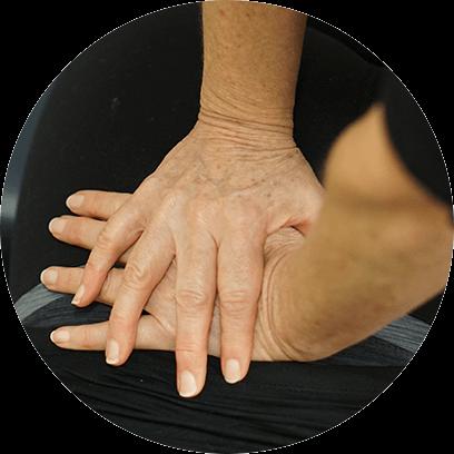 hands adjusting back