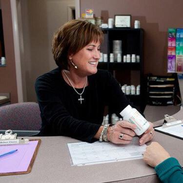Staff welcoming patient
