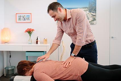 Dr Pugliese examining patient