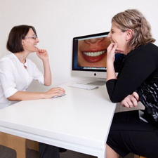 Dr Perdis with patient for cosmetic consult